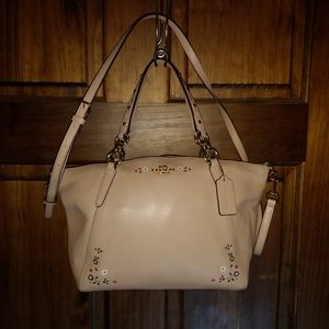 Coach Small Kelsey Leather Satchel Floral Tooling